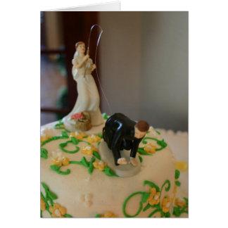 Anziehender Bräutigam der lustigen Grußkarte