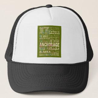 Anziehungskräfte u. berühmte Orte des Anchorages, Truckerkappe