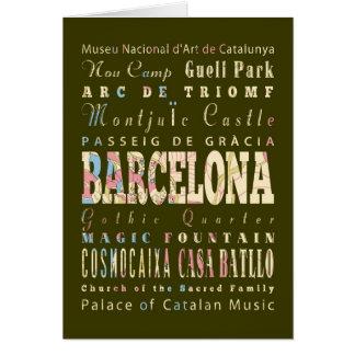 Anziehungskräfte u. berühmte Orte von Barcelona, Karte