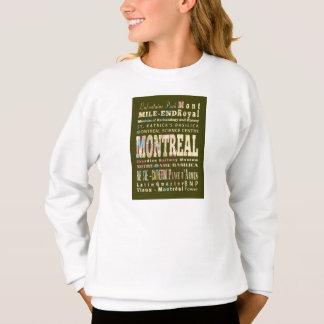 Anziehungskräfte u. berühmte Orte von Montreal, Sweatshirt