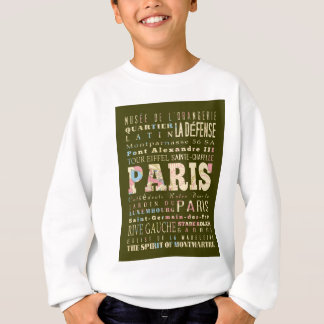 Anziehungskräfte u. berühmte Orte von Paris, Sweatshirt