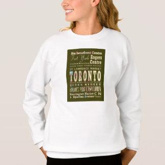 Anziehungskräfte u. berühmte Orte von Toronto, Sweatshirt