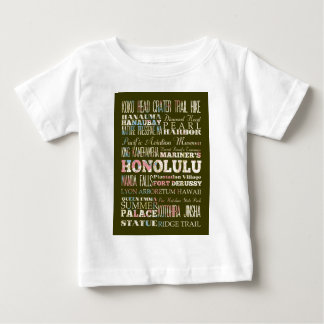 Anziehungskräfte und berühmte Orte von Honolulu, Baby T-shirt