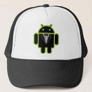 Anzug herauf androides Grün Truckerkappe