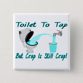 Anzustechen Toilette Quadratischer Button 5,1 Cm