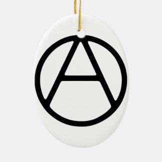AO-OA schwarzes einfaches Monogramm Keramik Ornament