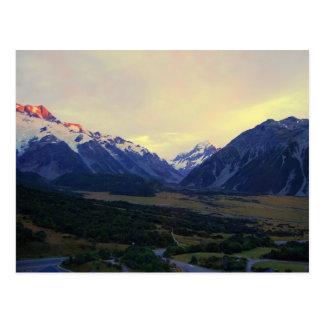Aoraki Berg-Koch am Sonnenaufgang, NZ Postkarte