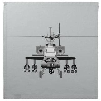 Apache-Hubschrauber - frontal Serviette