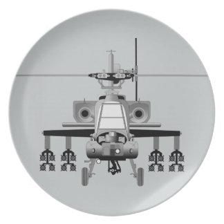 Apache-Hubschrauber - frontal Teller