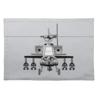 Apache-Hubschrauber - frontal Tischset