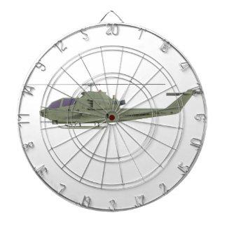 Apache-Hubschrauber im Seitenansichtprofil Dartscheibe