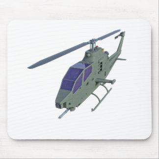 Apache-Hubschrauber in der Vorderansicht Mauspads