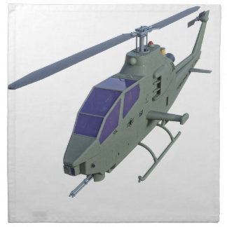 Apache-Hubschrauber in der Vorderansicht Stoffserviette