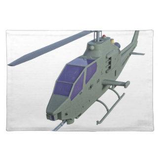 Apache-Hubschrauber in der Vorderansicht Tischset
