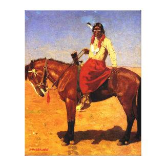 Apache-Inder zu Pferd - Gaspard Latoix Leinwanddruck