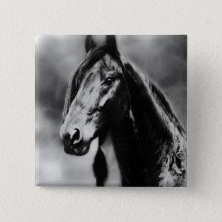 Apache-Pferde Quadratischer Button 5,1 Cm
