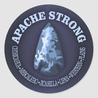 Apache stark runder aufkleber