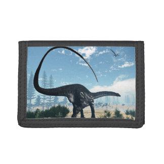 Apatosaurusdinosaurier in der Wüste - 3D