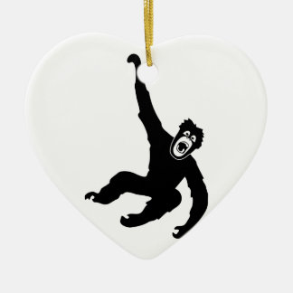 ape monkey chimp gorilla affe crazy orang utan keramik ornament