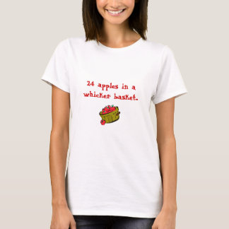 Äpfel, 24 Äpfel in einem whicker Korb… T-Shirt