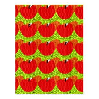 Apfel-Apfel-Äpfel Postkarte