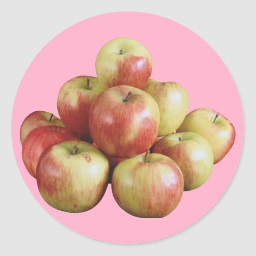 Äpfel Runder Aufkleber