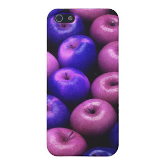 Äpfel blau u. rosa etui fürs iPhone 5