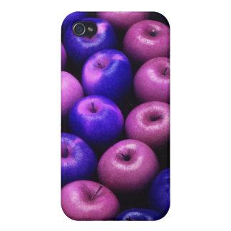 Äpfel blau u. rosa iPhone 4 case
