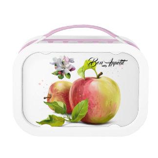 Äpfel, Blumen und spritzt Brotdose