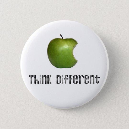 Apfel Denk (mal) Anders Runder Button 5,1 Cm