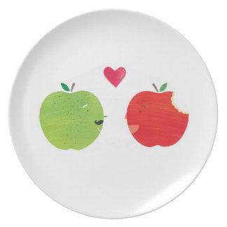 Äpfel! Flacher Teller