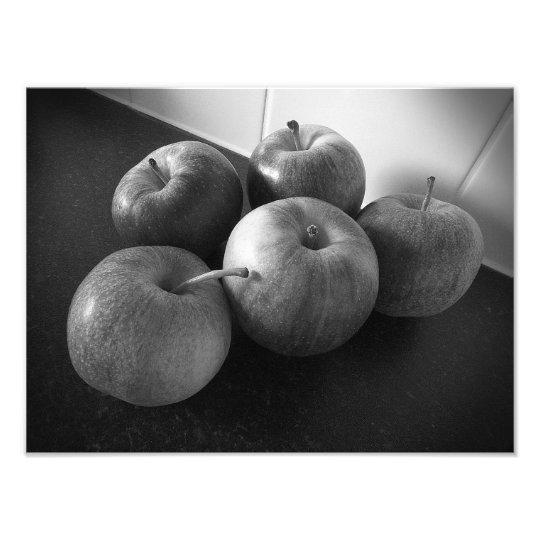Äpfel in der Küche Fotodruck