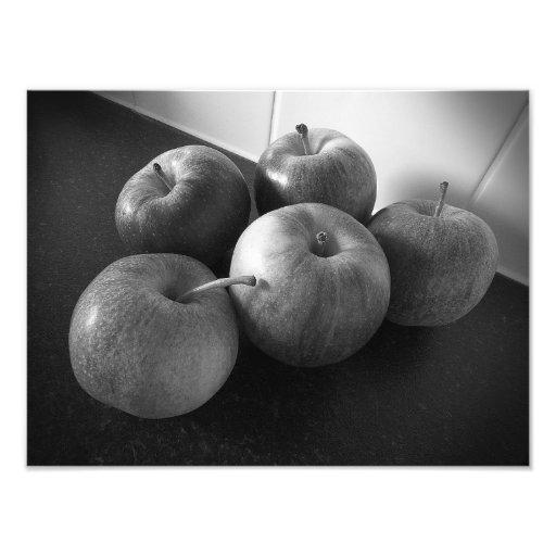 Äpfel in der Küche Photographien