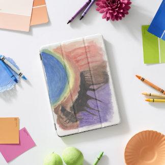 Apfel ipad Profall - abstrakter Watercolor iPad Pro Cover