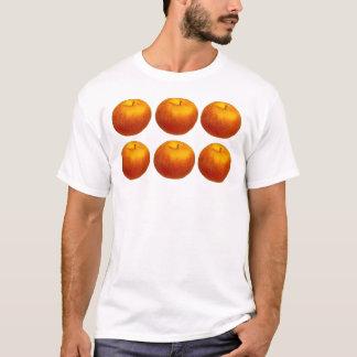 Äpfel klären Hintergrund T-Shirt