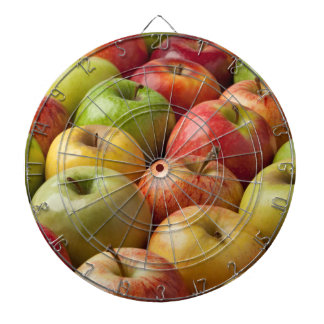 Äpfel - reif u. bunt dartscheibe