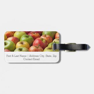 Äpfel - reif u. bunt kofferanhänger