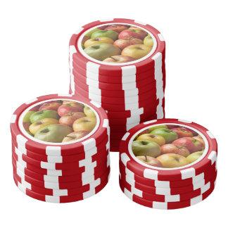 Äpfel - reif u. bunt poker chips