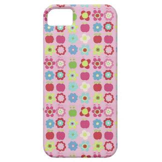 Äpfel u Blumen auf rosa iPhone 5 Fall iPhone 5 Cover