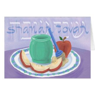 Äpfel u. Honig Rosh Hashanah Karte