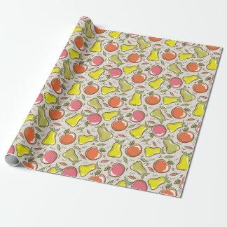 Äpfel und Birnen! Geschenkpapier