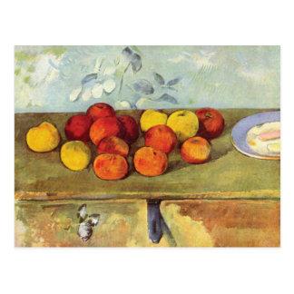 Äpfel und Kekse durch Paul Cezanne Postkarte
