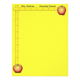 Äpfel und Machthaber-Lehrer-Papier (Sonnenschein-G Flyers
