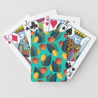 Äpfel und Zitronen aquamarin Bicycle Spielkarten