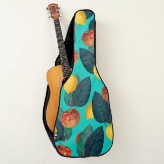Äpfel und Zitronen aquamarin Gitarrentasche