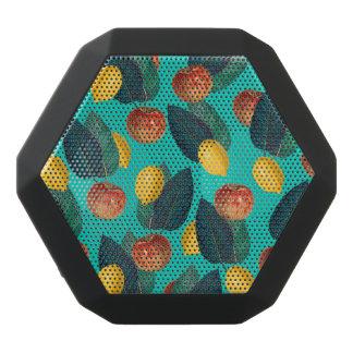 Äpfel und Zitronen aquamarin Schwarze Bluetooth Lautsprecher