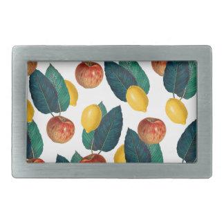 Äpfel und Zitronen Rechteckige Gürtelschnalle