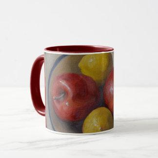 Äpfel und Zitronen Tasse