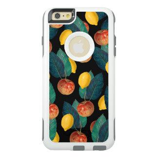 Äpfel und Zitronenschwarzes OtterBox iPhone 6/6s Plus Hülle