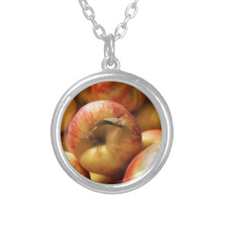 Äpfel Versilberte Kette